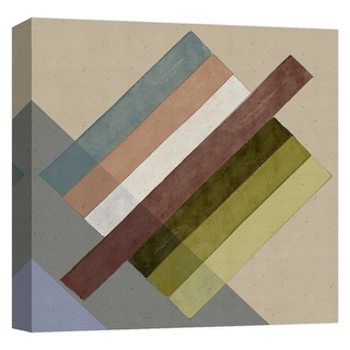 """PTM Images 9-124760  PTM Canvas Collection 12"""" x 12"""" - """"Chalk Stripes II"""" Giclee Patterns and Designs Art Print on Canvas"""