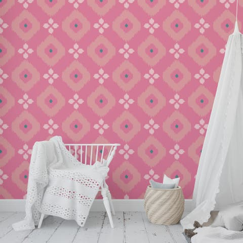 COTTON CANDY PINK GREEN Peel and Stick Wallpaper By Kavka Designs - 2' x 16'