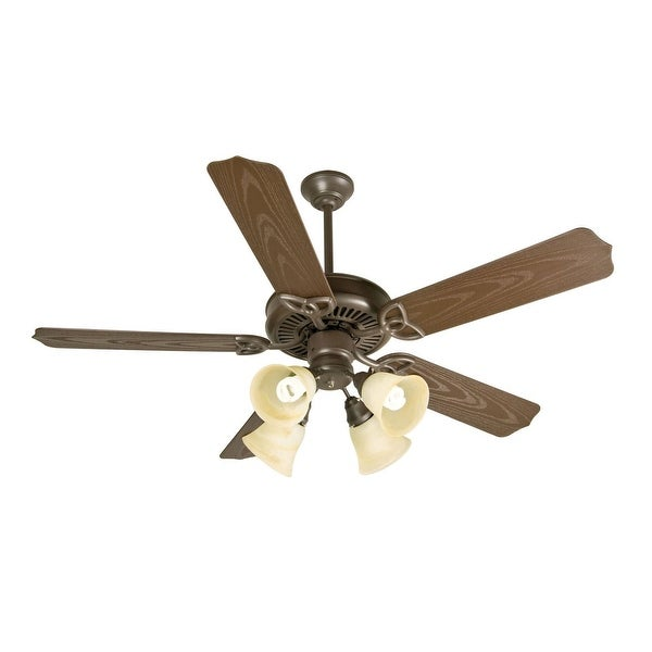 Craftmade K10430 Indoor Outdoor Patio Fan 52 5 Blade Ceiling Blades And Light Kit Included Brown Free Shipping Today