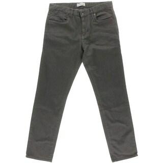 Calvin Klein Mens Slim Low-Rise Straight Leg Jeans