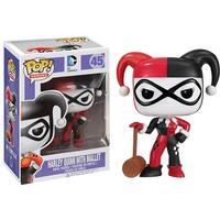 DC Comics Funko Pop Heroes Harley Quinn with Mallet Vinyl Figure - multi
