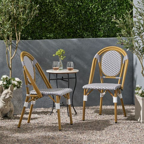 Remi Outdoor French Bistro Chairs (Set of 2) by Christopher Knight Home