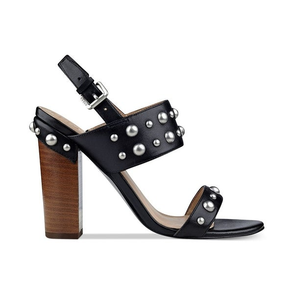 GUESS Womens Cheree Leather Open Toe Casual Slingback Sandals