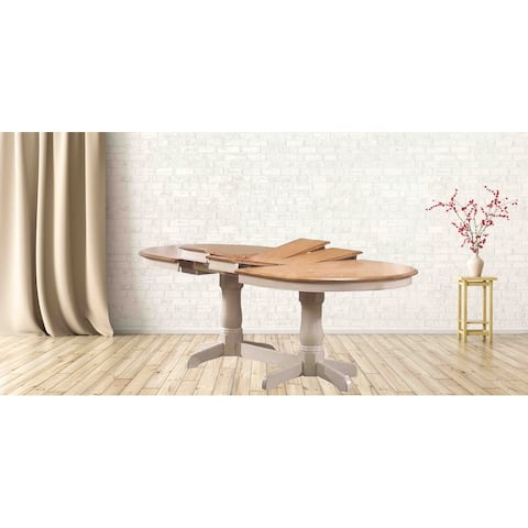 """Oval Dining Table, 42"""" x 66""""x 78""""x 90"""", Double Pedestal Caramel, Biscotti - N/A"""