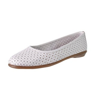 Aerosoles Womens Between US Leather Perforated Ballet Flats