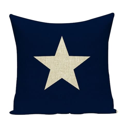 "Beach Inspired Coastal Luxury Home Nautical Theme Decorative Throw Pillow Cover For Porch, Couch, Sofa Bedroom 18""x18"""