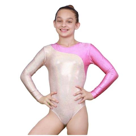 VEVA by Very Vary Women Pearl Pink Mercury Mystique Gymnastics Leotard XS