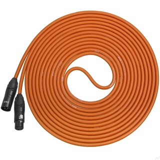 LyxPro Balanced XLR Cable 25 ft Premium Series Professional Microphone Cable, Powered Speakers and Other Pro Devices Cable (Option: Orange)