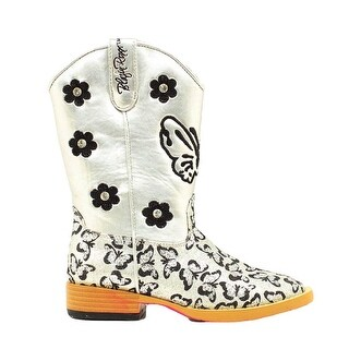 Blazin Roxx Western Boots Girls Pecos Cowboy Zipper Silver (2 options available)
