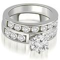 2.50 cttw. 14K White Gold Classic Channel Set Round Cut Diamond Bridal Set - Thumbnail 0