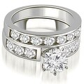 2.75 cttw. 14K White Gold Classic Channel Set Round Cut Diamond Bridal Set - Thumbnail 0