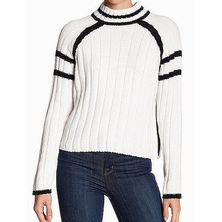 John + Jenn Black Womens Striped Knitted Sweater