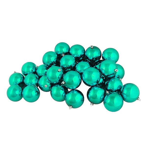 "60ct Shiny Seafoam Green Shatterproof Christmas Ball Ornaments 2.5"" (60mm)"