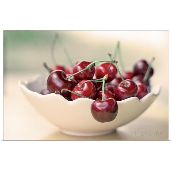 """""""Bowl of cherries."""" Poster Print"""