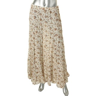 Denim & Supply Ralph Lauren Womens Slub Floral Print Peasant, Boho Skirt