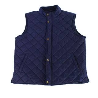 Club Room NEW Navy Blue Mens Size Large L Full-Zip Quilted Vest Jacket|https://ak1.ostkcdn.com/images/products/is/images/direct/00655ee6340ac035796c1c4e6ae779d3a98690b2/Club-Room-NEW-Navy-Blue-Mens-Size-Large-L-Full-Zip-Quilted-Vest-Jacket.jpg?impolicy=medium
