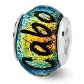 Sterling Silver Reflections Cabo Dichroic Glass Bead (4mm Diameter Hole) - Thumbnail 0