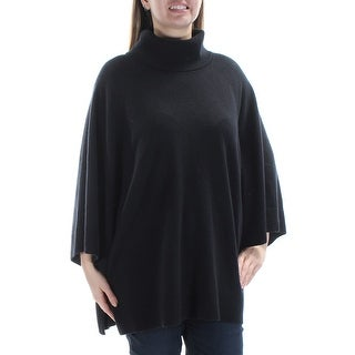 RALPH LAUREN $179 Womens New 1330 Black Turtle Neck Dolman Sleeve Top L B+B