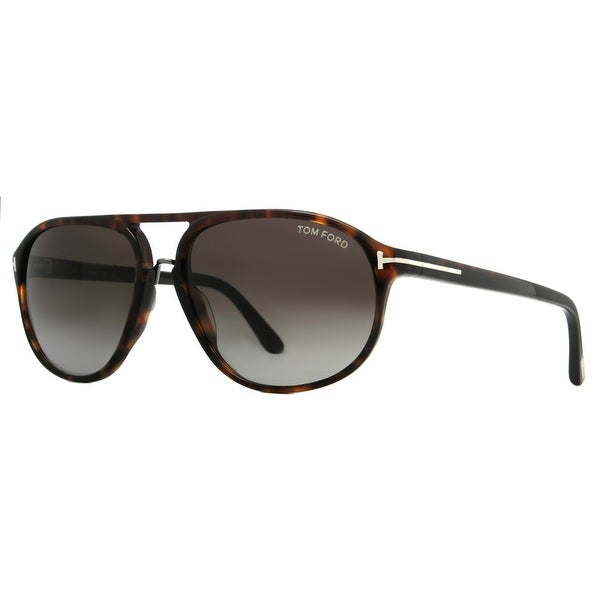 Tom Ford Jacob TF 447 52B Brown Tortoise/Gray Gradient Mens Aviator Sunglasses - dark brown tortoise - 60mm-15mm-140mm