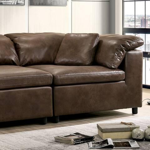 Furniture of America Barr Brown Corner Chair