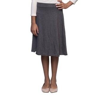 Karen Michelle Girls Charcoal A-Line Knee Length Rayon Skirt 16