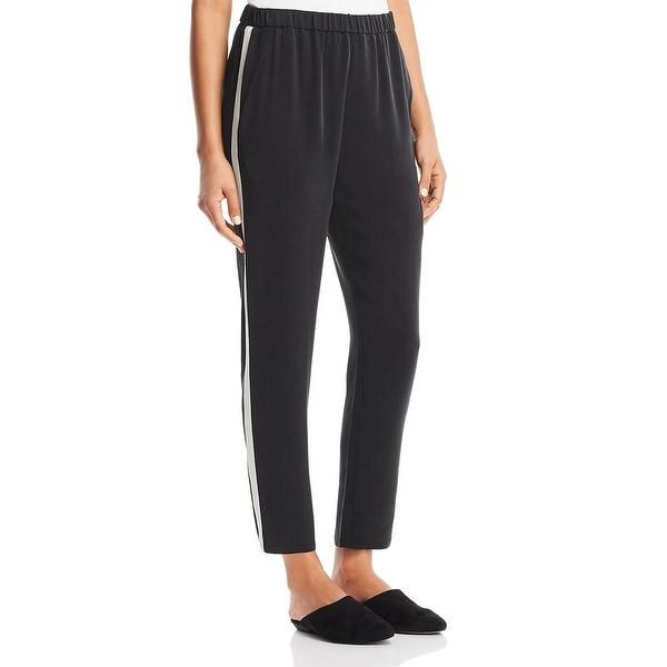 Eileen Fisher Womens Petites Pants Silk Track