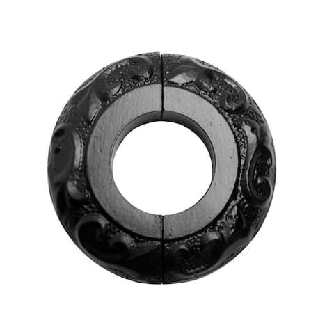 Radiator Flange Black Aluminum Escutcheon 1 1/4'' ID Renovator's Supply