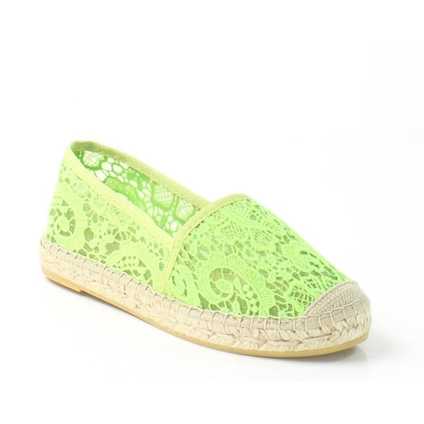 Vidoreta NEW Light Green Lace Shoes Size 8M Floral Espadrilles