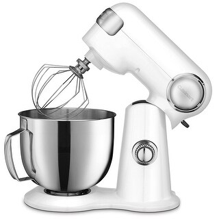 Cuisinart SM-50 Precision Master 5.5-Quart Stand Mixer, White