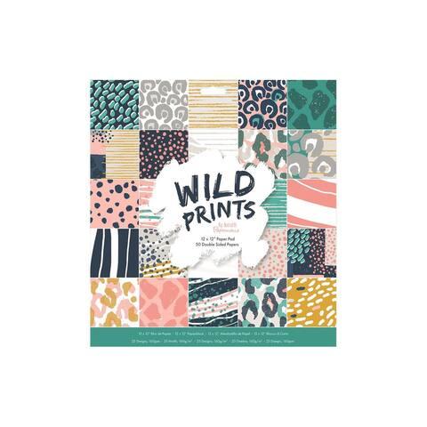Docrafts PM Paper Pad 12x12 Wild Prints