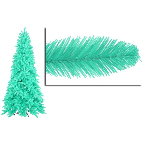 7.5' Pre-Lit Slim Seafoam Ashley Spruce Christmas Tree - Clear & Green Lights
