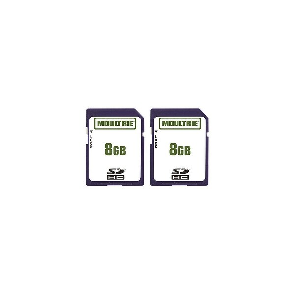 Moultrie MFHP12541 8GB SD Memory Card Store Data without Losing Quality & Plug & Play - (2-Pack)