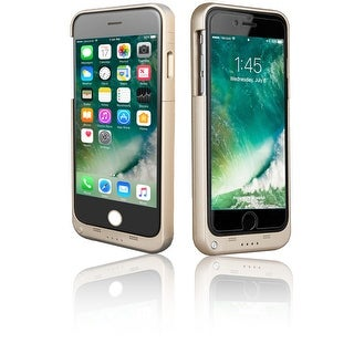 Indigi® Gold PowerBank Rechargeable Tough Battery Case - for iPhone 7 (3200mAh)