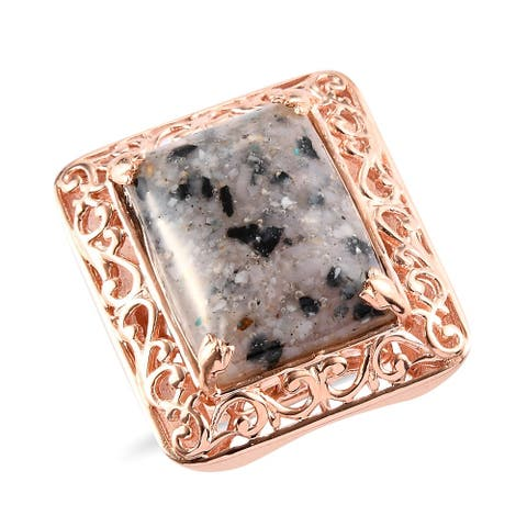 Shop LC 950 Platinum Rose Gold Black Spinel Solitaire Ring Ct 9.8
