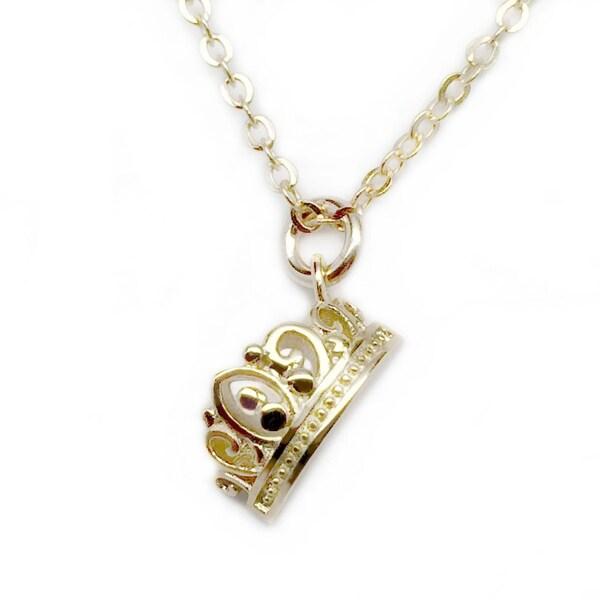"Julieta Jewelry Crown Gold Charm 16"" Necklace"