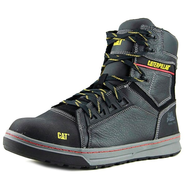 Shop Caterpillar Concave Hi St Men Steel Toe Leather Black Work Boot
