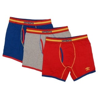 "Umbro Men 3Pack Boxer Briefs Energizing Cotton 6"" Inseam"
