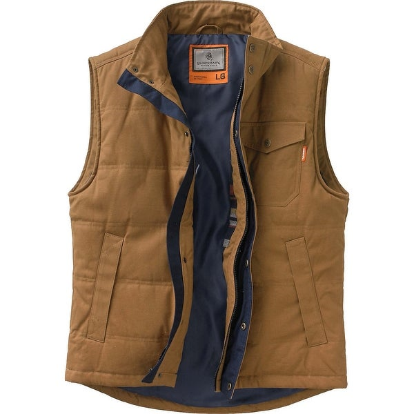 Legendary Whitetails Mens Bison Canvas Vest