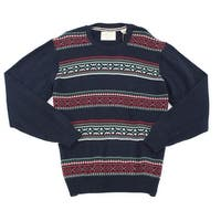 Weatherproof NEW Blue Mens Size XL Fair Isle Knit Crewneck Sweater