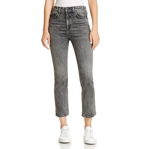 Rag & Bone Womens Hana Bootcut Jeans Denim Cropped