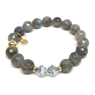 "Grey Labradorite Paris 7"" Bracelet"