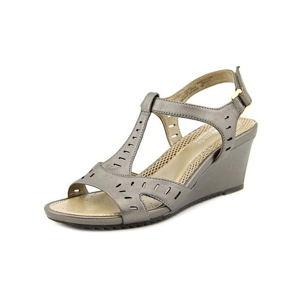 Antigravity By Easy Spirit Lula Women Pewter Sandals