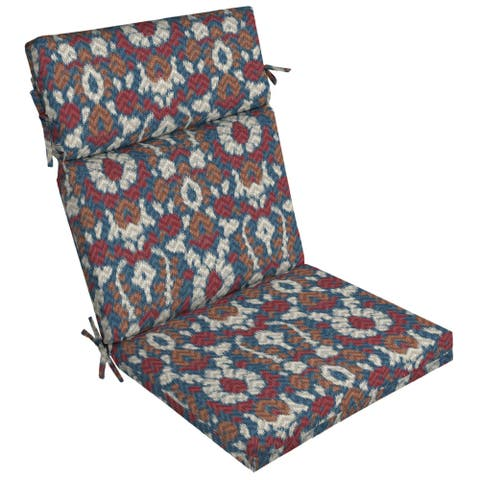 Arden Selections DriWeave Phyllis Ikat Outdoor High Back Chair Cushion - 44 in L x 21 in W x 4.5 in H