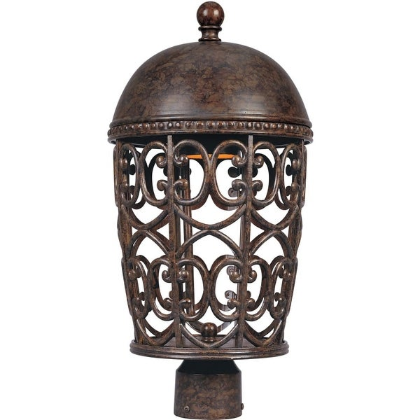 Designers Fountain 97596 1-Light Up Lighting Post Light from the Dark Sky Amherst Collection - Burnt Umber - n/a