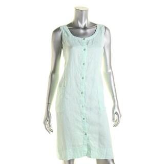 Eileen Fisher Womens Linen Pocket Shirtdress