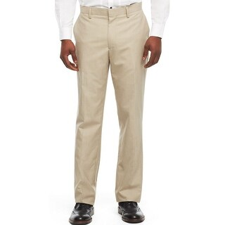 Kenneth Cole Reaction Mini Striped Dress Pants Sandstorm Beige 34 x 32
