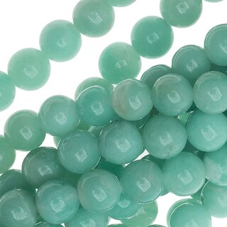 AA Aqua Blue Amazonite 6mm Round Gemstone Beads - 15.5 Inch Strand