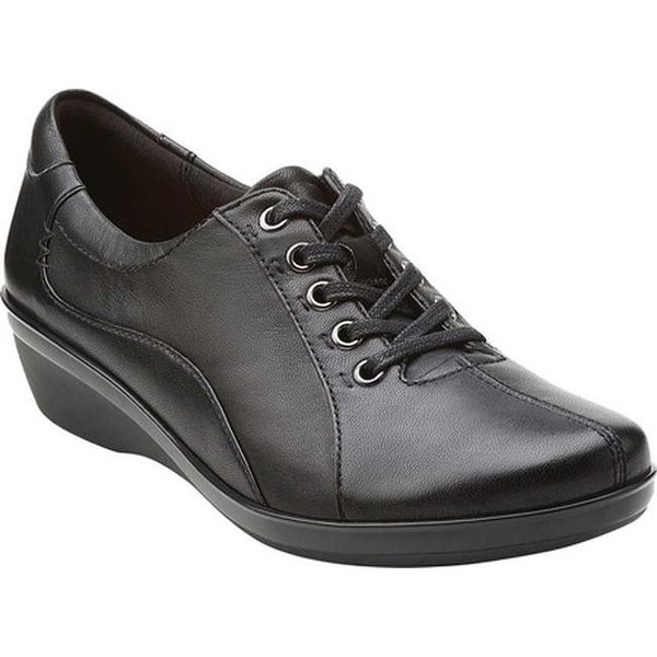 Ladies Easy B Lace Up Wide Fitting Leather Shoes Rosie