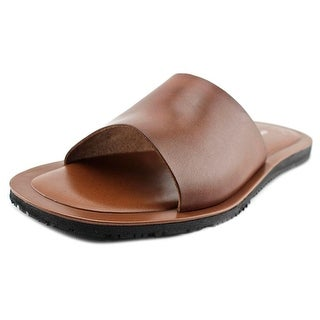 Kenneth Cole NY Reel It In Men Open Toe Leather Slides Sandal