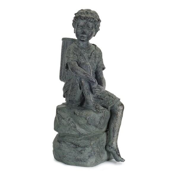"23.5"" Young Boy Garden Statue - N/A"